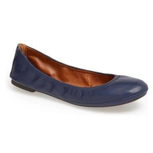 Lucky Brand | 'Emmie' Navy Leather Flats